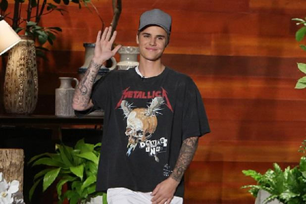 Justin Bieber Enrages Metallica Fans by Wearing Band's T-Shirt on 'Ellen'