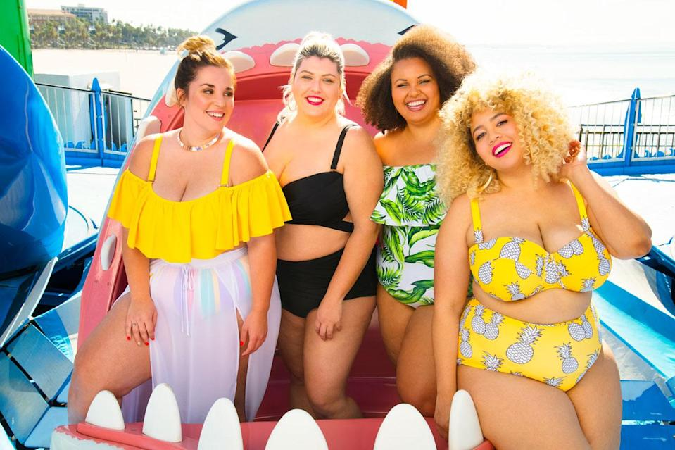 Models and Gabi Gregg in the new Swimsuits for All campaign. (Photo: Courtesy of Swimsuits for All)