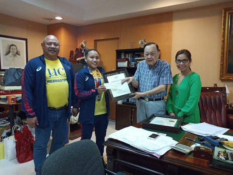 UC gives P100,000 cash incentive to SEA Games silver medalist Ando