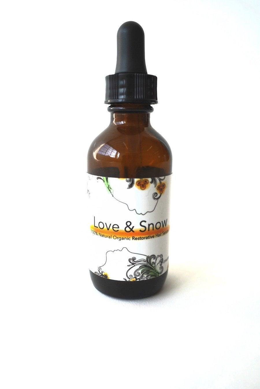 """<h2><a href=""""https://www.loveandsnowhairserum.com/collections/love-snow"""" rel=""""nofollow noopener"""" target=""""_blank"""" data-ylk=""""slk:Love & Snow"""" class=""""link rapid-noclick-resp"""">Love & Snow</a></h2><br>Love & Snow's story began when founder, <a href=""""https://www.loveandsnowhairserum.com/pages/about-us"""" rel=""""nofollow noopener"""" target=""""_blank"""" data-ylk=""""slk:Love White"""" class=""""link rapid-noclick-resp"""">Love White</a>, decided to solve her frustrating scalp issues with essential oils. Her Bachelor's and Master's degrees in Clinical Psychology and Public Health helped her perfect a 100% organic hair serum that fully moisturizes the scalp without leaving a greasy mess or any added irritation. <br><br>You can snag her Restorative Hair and Scalp Serum or her new Intensive Hair and Scalp Tonic at her website. <br><br>Shop <em><strong><a href=""""https://www.loveandsnowhairserum.com/collections/love-snow"""" rel=""""nofollow noopener"""" target=""""_blank"""" data-ylk=""""slk:Love & Snow"""" class=""""link rapid-noclick-resp"""">Love & Snow</a></strong></em><br><br><br><br><strong>Love and Snow</strong> Restorative Hair and Scalp Serum, $, available at <a href=""""https://go.skimresources.com/?id=30283X879131&url=https%3A%2F%2Ffave.co%2F3l1OTnM"""" rel=""""nofollow noopener"""" target=""""_blank"""" data-ylk=""""slk:Love and Snow"""" class=""""link rapid-noclick-resp"""">Love and Snow</a>"""