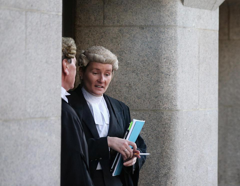 Lawyers outside the Old Bailey in London. Photo: Oli Scarff/Getty Images
