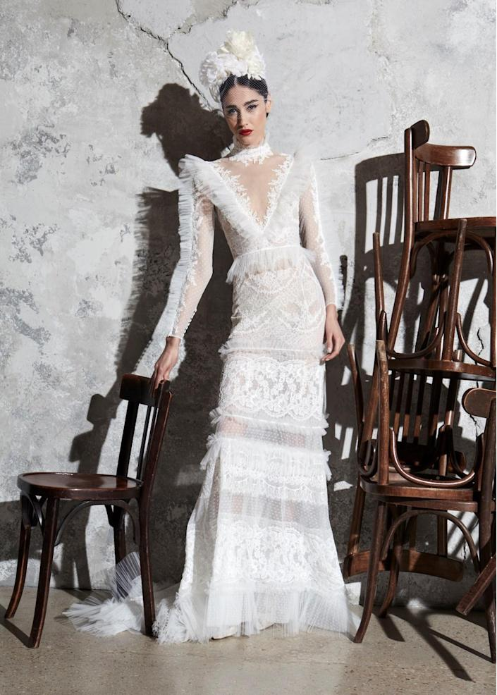 <p>This collection was inspired by Spanish weddings, matadors, and flamenco dancers — something that's instantly noticeable when looking at this eye-catching design.</p>
