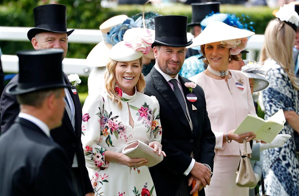 In this June 20, 2019 file photo, Peter Phillips and Autumn Phillips attends the third day of the annual Royal Ascot horse race meeting. Peter Phillips, the eldest grandson of Queen Elizabeth II, and his wife Autumn are divorcing after 12 years of marriage.