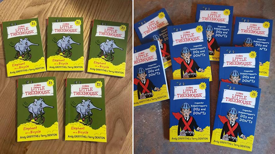 Coles customers showing multiple copies of the same Little Treehouse books.