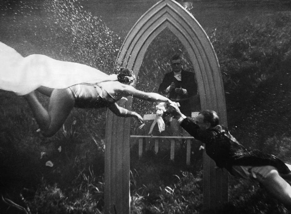 <p>This couple took their love to a whole new level: under the water. These strong swimmers tied the knot in a ceremony fit for a mermaid.</p>