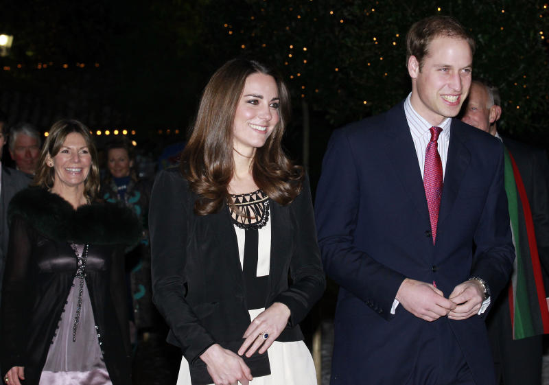 Prince William and his fiancée Kate Middleton arrive at The Thursford Collection in Norfolk, England on Dec. 18, 2010.  (Stringer UK / Reuters)