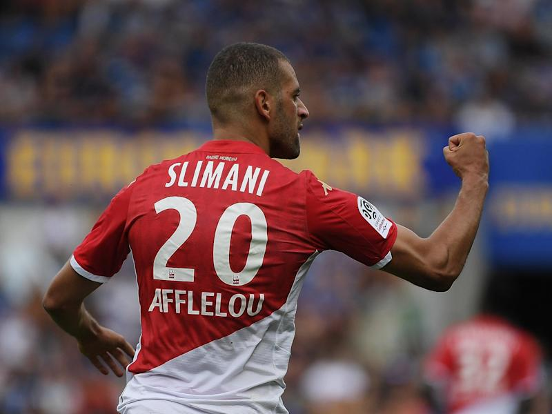 Monaco's Islam Slimani: AFP via Getty Images