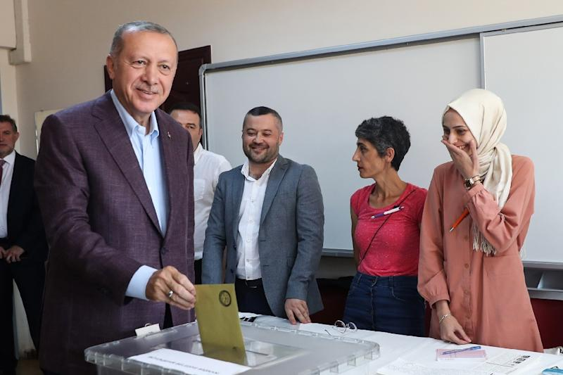 The result was a blow for Erdogan, who has held power nationally since 2003 (AFP Photo/Adem ALTAN)