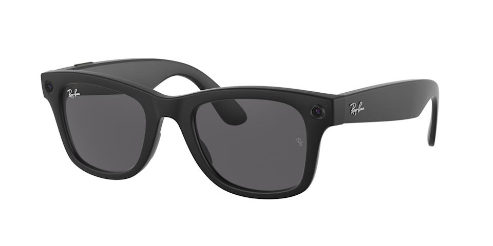 Facebook's Ray-Ban Stories smart glasses on blank background