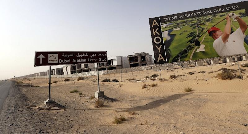 The Trump International Golf Club, the first foreign launch of a venue bearing his name since US President Donald Trump took office, is to be inaugurated in Dubai (AFP Photo/Karim SAHIB)
