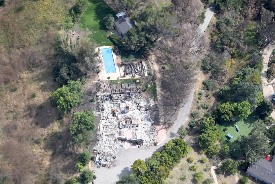 Miley and Liam's nearby home was destroyed in the Malibu wildfires last year. Photo: Australscope.