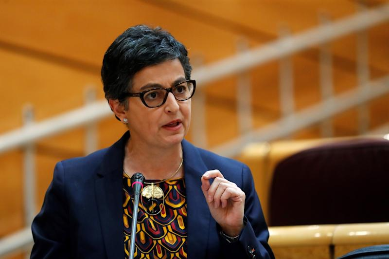 Spanish Foreign Affairs Minister Arancha Gonzalez Laya during the government's question time session at Upper Chamber, in Madrid, Spain: EPA