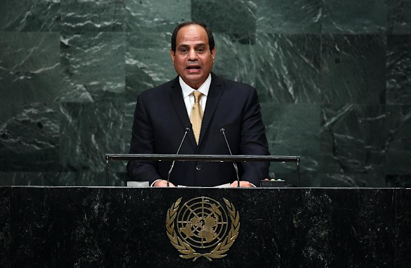 Egypt leader voices support for Syrian president's military