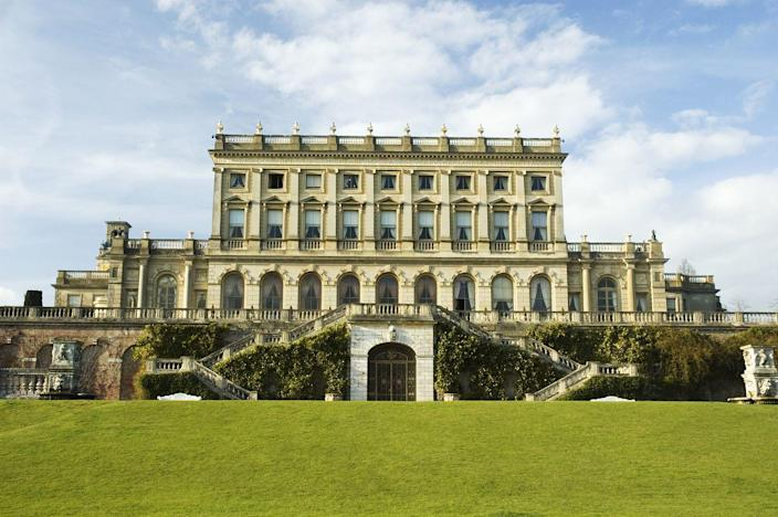 """<p>The second jaw-dropping creation by English architect Charles Barry, <a href=""""https://www.clivedenhouse.co.uk/"""" rel=""""nofollow noopener"""" target=""""_blank"""" data-ylk=""""slk:Cliveden House"""" class=""""link rapid-noclick-resp"""">Cliveden House</a> was built in Italianate style for Duke and Duchess of Sutherland in 1850. The three-floor mansion overlooking the River Thames long served as a social hub and gathering place for the countless politicians and socialites who lived there through the years. </p><p>Eventually, the 376-acre estate was renovated into a five-star Relais & Châteaux hotel, which Meghan Markle famously stayed at the night before her wedding. </p>"""