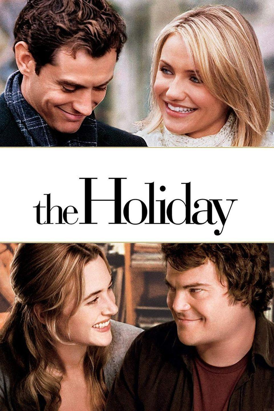 """<p>This romantic comedy about a pair of house-swappers that falls in love abroad will make you want to spend next Christmas in a charming English cottage (and make out with Jude Law).</p><p><a class=""""link rapid-noclick-resp"""" href=""""https://www.amazon.com/Holiday-Cameron-Diaz/dp/B000OBYLVO/?tag=syn-yahoo-20&ascsubtag=%5Bartid%7C10055.g.1315%5Bsrc%7Cyahoo-us"""" rel=""""nofollow noopener"""" target=""""_blank"""" data-ylk=""""slk:WATCH NOW"""">WATCH NOW</a></p>"""