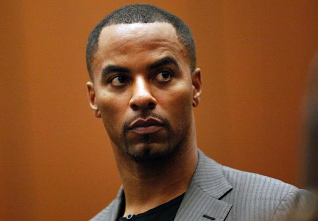 Darren Sharper, pictured here at a Los Angeles court in 2014, is facing multiple allegations of rape and up to 20 years in jail if he is convicted (AFP Photo/Bob Chamberlin)