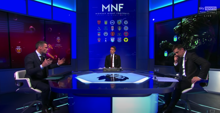<p>Carragher and Neville debated VAR on Monday Night Football</p>Sky Sports