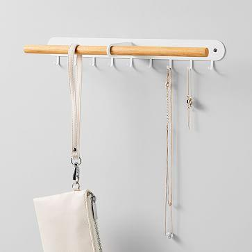 """<br><br><strong>Yamazaki Home</strong> Yamazaki Wall-Mounted Accessory Holder, $, available at <a href=""""https://go.skimresources.com/?id=30283X879131&url=https%3A%2F%2Fwww.westelm.com%2Fproducts%2Fwall-mounted-accessory-holder-wood-metal-d6525%2F"""" rel=""""nofollow noopener"""" target=""""_blank"""" data-ylk=""""slk:West Elm"""" class=""""link rapid-noclick-resp"""">West Elm</a>"""