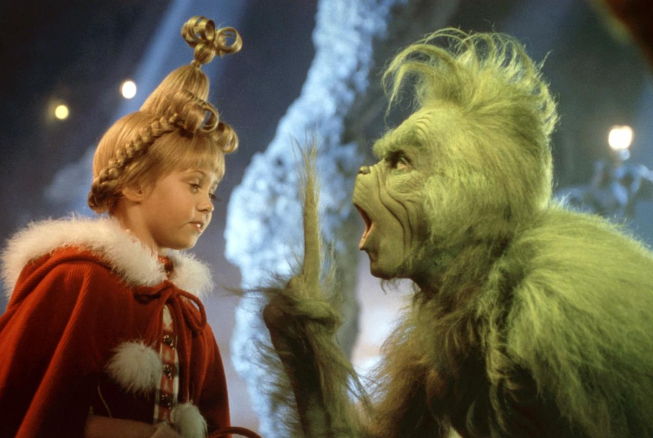 <p>The cast: Jim Carrey, Taylor Momsen, Jeffrey Tambor, Christine Baranski, Molly Shannon</p> <p>The plot: Directed by Ron Howard, Jim Carrey and a young (pre–<em>Gossip Girl</em>!) Taylor Momsen star in this imaginative 2000 remake of Dr. Seuss's holiday classic about a grumpy, green creature who wants to ruin Christmas for the citizens of the nearby village.</p>