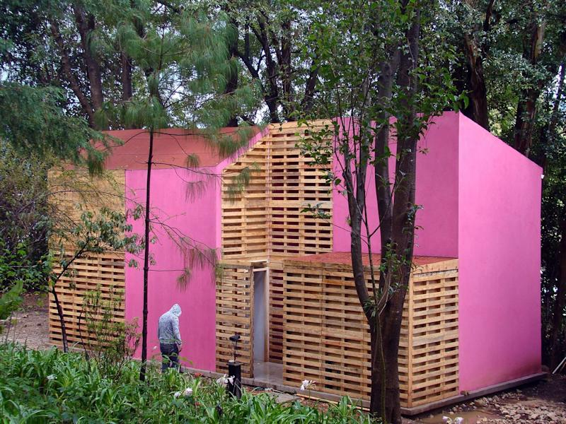 A brightly colored social housing project in San Cristobal, Mexico, by Tatiana Bilbao Estudio.