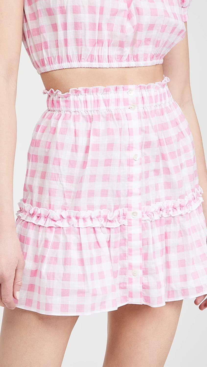 <p>This <span>Playa Lucila Gingham Skirt</span> ($99) will become your new favorite summer piece.</p>