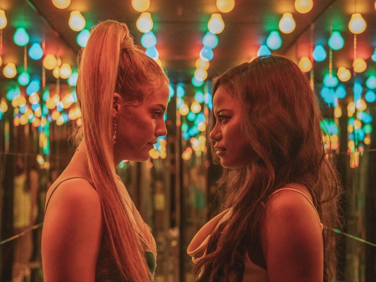 Riley Keough and Taylour Paige in 'Zola' (A24)