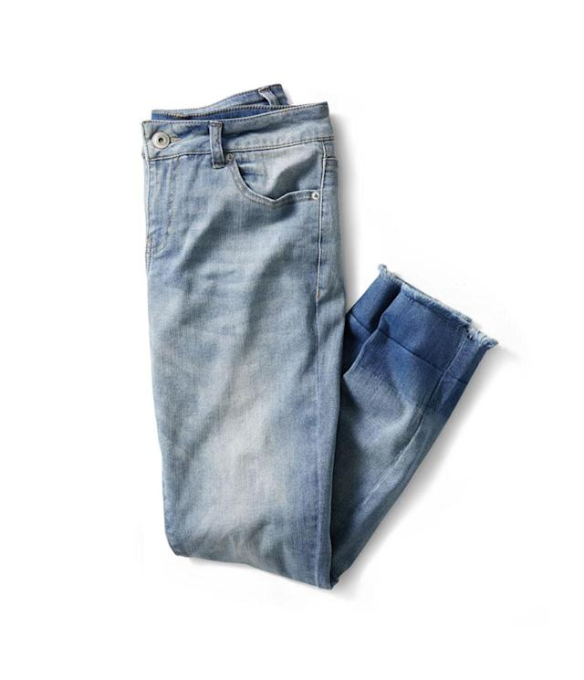 "<p>Women's Released Hem Skinny Jeans, $19, <a href=""https://www.walmart.com/ip/Time-and-Tru-Women-s-Released-Hem-Skinny-Jeans/240286322"" rel=""nofollow noopener"" target=""_blank"" data-ylk=""slk:walmart.com"" class=""link rapid-noclick-resp"">walmart.com</a>. (Photo: Courtesy of Walmart) </p>"