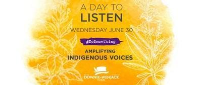 Canadian Radio Broadcasters Join Together to Amplify Indigenous Voices with A DAY TO LISTEN, June 30 (CNW Group/Bell Media)