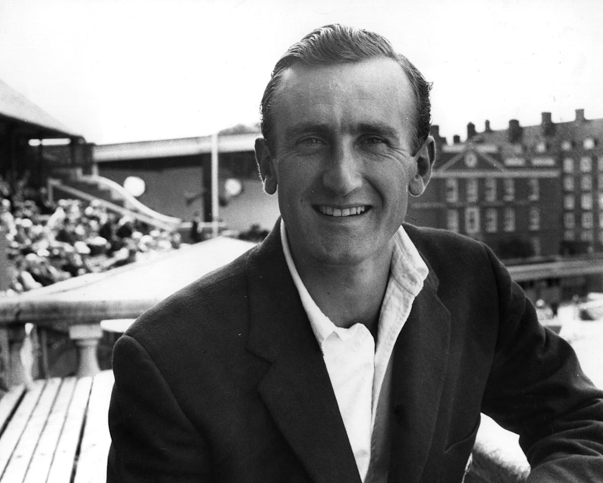 Sussex and England cricket player Ted Dexter.    (Photo by Central Press/Getty Images)