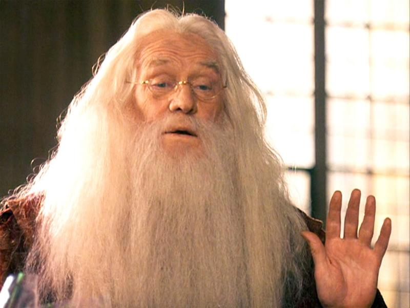 The original Dumbledore, Richard Harris, in 2001's 'Harry Potter and the Philosopher's Stone' (credit: Warner Bros)