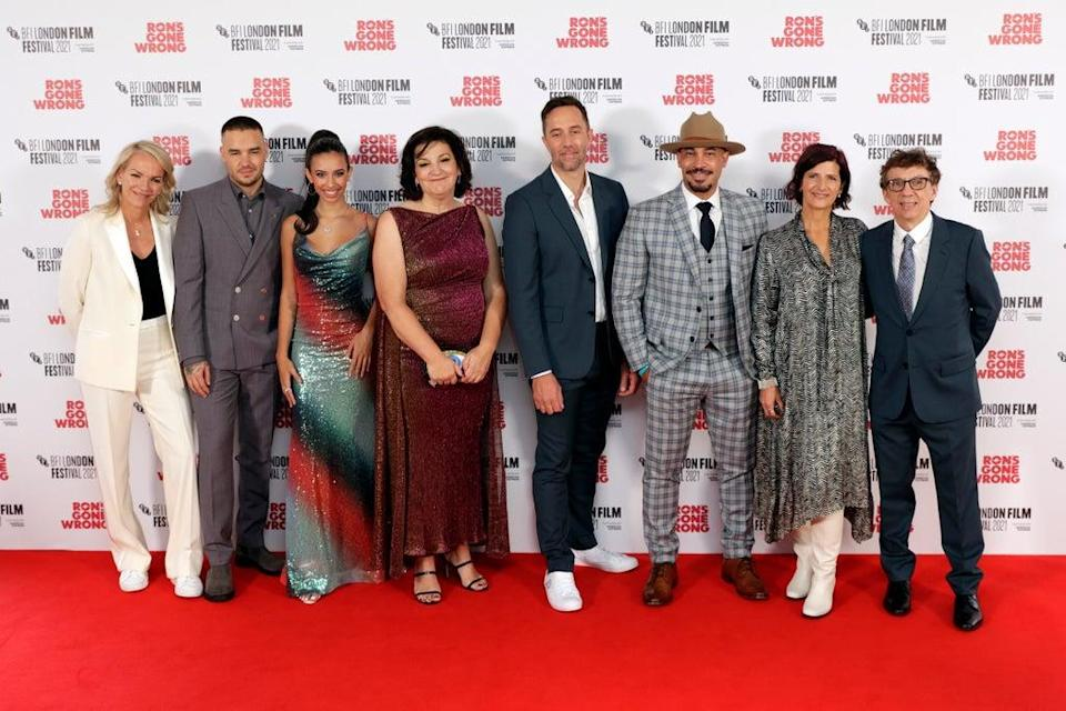 The cast at the Ron's Gone Wrong World Premiere (Getty Images for BFI)