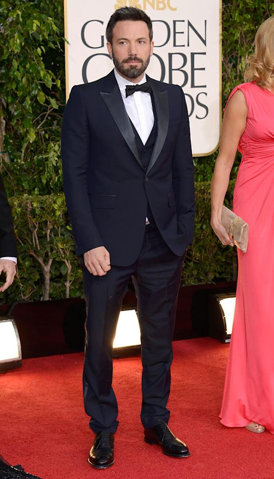Ben Affleck arrives at the 70th Annual Golden Globe Awards at the Beverly Hilton in Beverly Hills, CA on January 13, 2013.