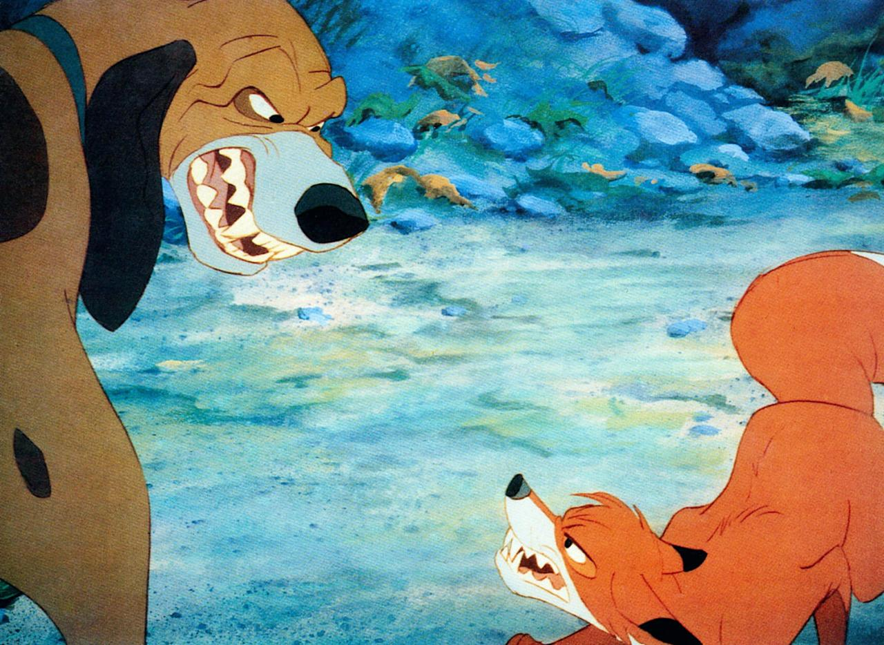 "<p>""Without fail, <strong>The Fox and the Hound</strong> always made me cry as a kid . . . but I kept watching it anyway because they were just SUCH cute friends (and the movie secretly made me want a pet fox). I think the two scenes that made me the most emotional were when Todd and Copper first met after they'd grown up, because I realized they weren't friends anymore, and when Widow Tweed returned Todd to the forest and said goodbye. HEART. BREAKING.""<br> </p> <p align=""right""><em>- Chanel Vargas, editorial assistant, Trending and Viral Features</em></p>"