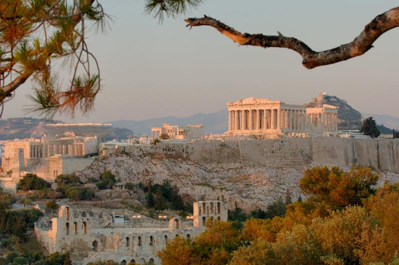 The Acropolis watches over the city: Getty Images
