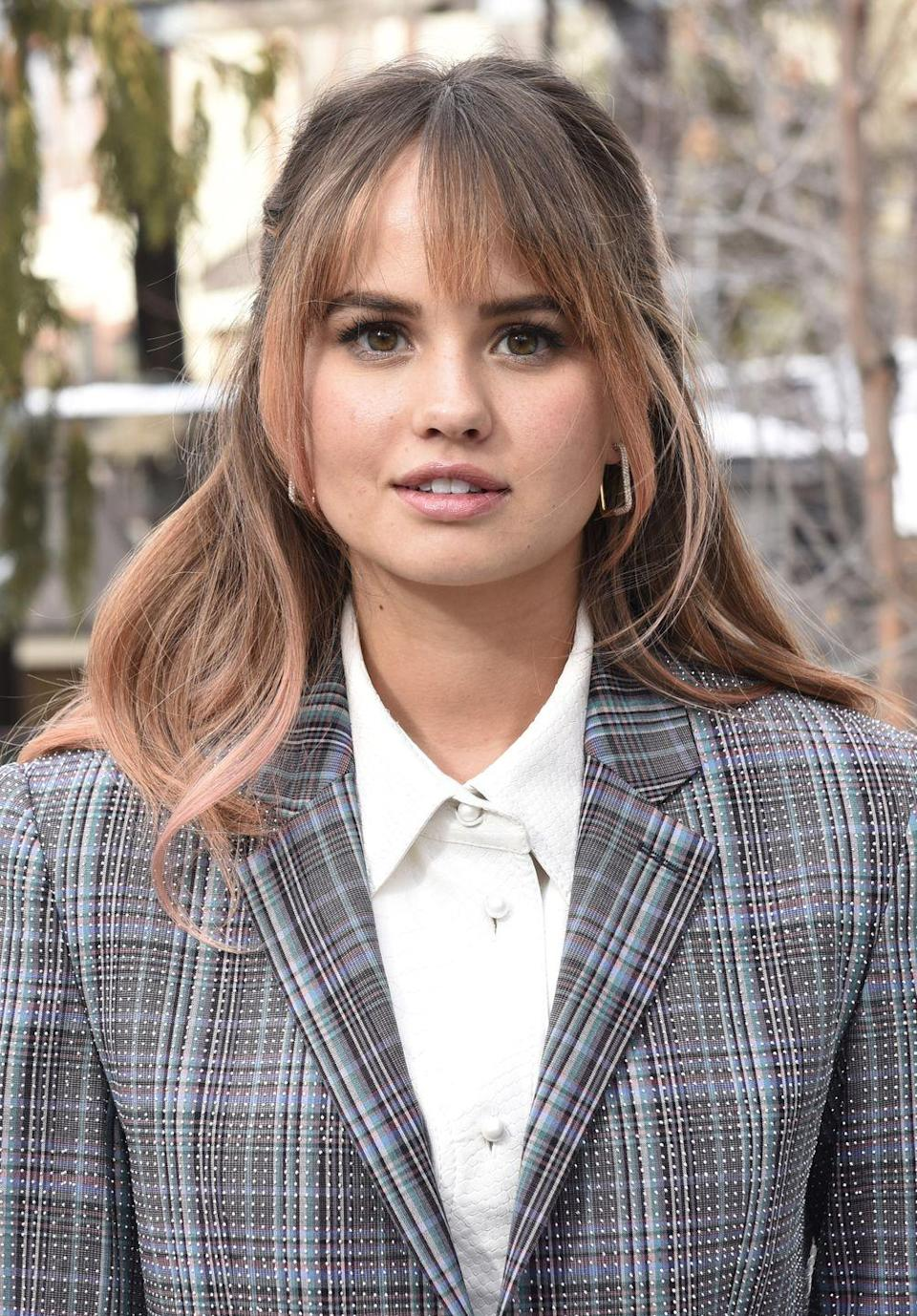 <p>The rose gold trend may never die down at this point. To bring it into a seasonally appropriate fall hair color, ask your colorist to weave in pink tones along the bottom with deeper brown hues at the base, like actress <strong>Debby Ryan</strong>.</p>