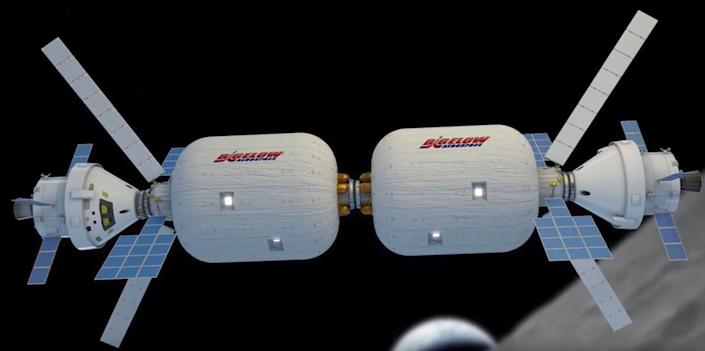 An illustration of Bigelow Aerospace's expandable spacecraft. (Photo: VideoFromSpace / YouTube)