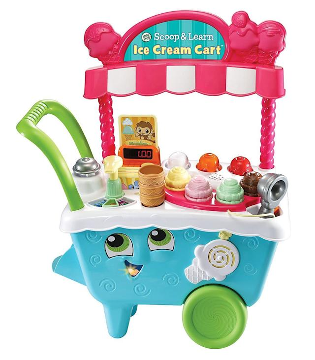 This adorable scooper lets your kid learn the skills needed to <span>operate a small business</span> by running their own ice cream cart.