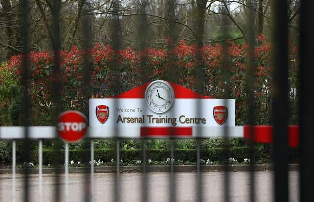 Arsenal are reported to have reopened their London Colney training ground to players (Bradley Collyer/PA)