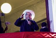 FILE PHOTO: Peruvians await presidential election results