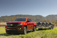 This photo provided by Chevrolet shows the 2020 Chevrolet Colorado, a midsize pickup with good payload and towing capabilities. It isn't the newest truck on the block, making it a prime candidate for a sizable discount. (Courtesy of Chevrolet via AP)