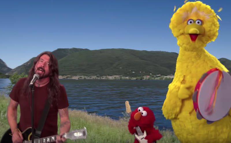 Here's Dave Grohl on Sesame Street, in case you need cheering up