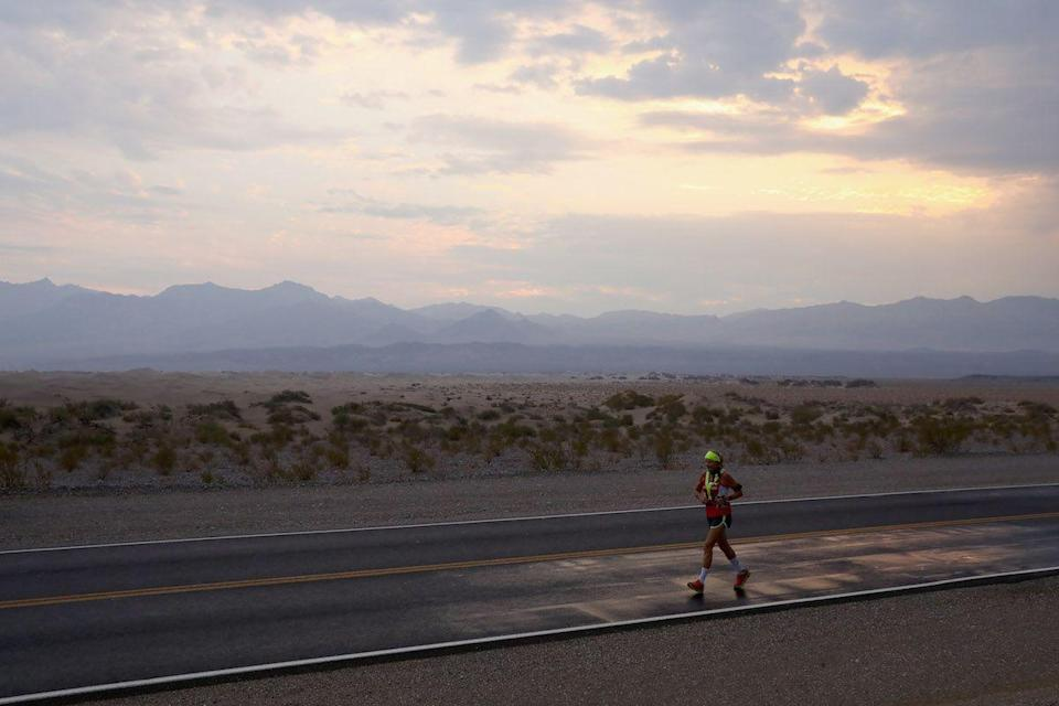 <p>A lone competitor in Death Valley's Badwater 135 Ultramarathon // July 12, 2017</p>