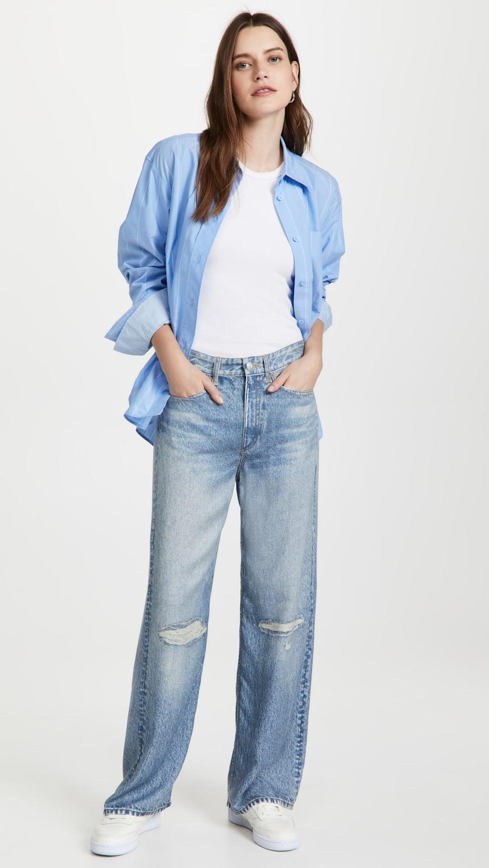 <p>You're going to want these <span>Rag &amp; Bone Liquid Miramar Pants</span> ($275) ASAP. Yes, they look like cool denim, but they are in fact sweatpants. You know what to do.</p>