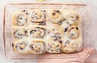 """<p>These blueberry lemon sweet rolls are one of our <a href=""""https://www.thedailymeal.com/50-best-brunch-recipes?referrer=yahoo&category=beauty_food&include_utm=1&utm_medium=referral&utm_source=yahoo&utm_campaign=feed"""" rel=""""nofollow noopener"""" target=""""_blank"""" data-ylk=""""slk:all-time favorite brunch recipes"""" class=""""link rapid-noclick-resp"""">all-time favorite brunch recipes</a>. Start your day off on the right foot with this treat that stars a lemon filling and plenty of fresh blueberries.</p> <p><a href=""""https://www.thedailymeal.com/best-recipes/brunch-blueberry-lemon-sweet-rolls?referrer=yahoo&category=beauty_food&include_utm=1&utm_medium=referral&utm_source=yahoo&utm_campaign=feed"""" rel=""""nofollow noopener"""" target=""""_blank"""" data-ylk=""""slk:For the Blueberry Lemon Sweet Rolls recipe, click here."""" class=""""link rapid-noclick-resp"""">For the Blueberry Lemon Sweet Rolls recipe, click here.</a></p>"""