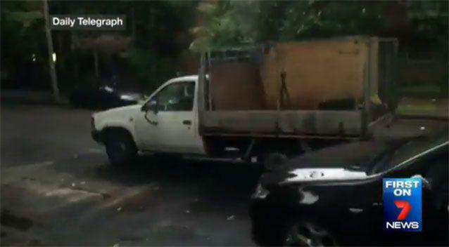 A reporter filmed Mr Barker driving his ute. Photo: 7 News/Daily Telegraph
