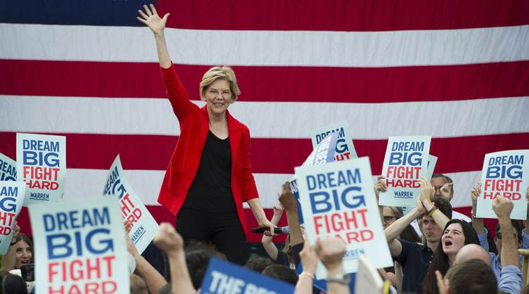 Elizabeth Warren, us elections, us democratic party, us news, world news,