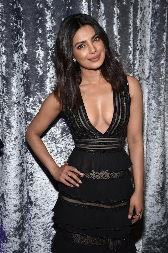 <p>Actress Priyanka Chopra attends the Yahoo News/ABC News White House Correspondents' Dinner pre-party at the Washington Hilton, April 30. <i>(Photo: Dimitrios Kambouris/Getty Images for Yahoo)</i></p>