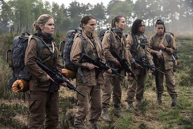 Jennifer Jason Leigh, Natalie Portman, Tuva Novotny, Tessa Thompson, and Gina Rodriguez in <em>Annihilation</em>. (Photo: Paramount/Skydance)