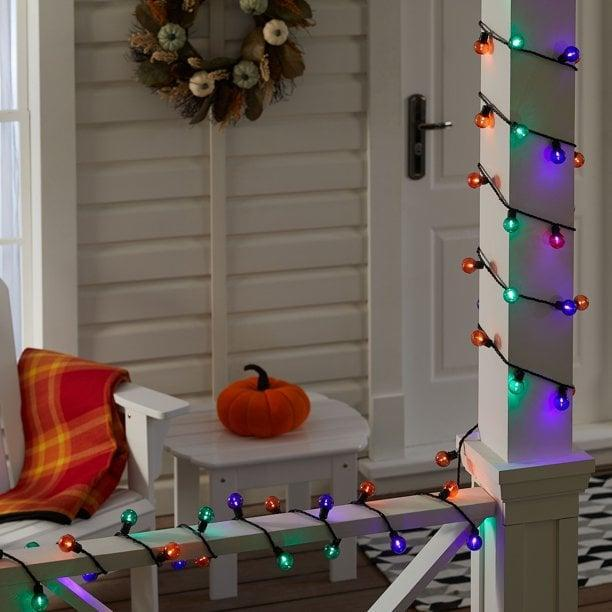 <p>Add a festive component to your decor with these 70-count <span>Way to Celebrate Halloween Multi-Color LED G30 Globe Lights</span> ($12). You can use them indoors and outdoors.</p>
