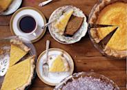 """If the idea of a buttermilk pie recipe is new to you, that's an even better reason to make it. <a href=""""https://www.bonappetit.com/recipe/buttermilk-lemon-chess-pie?mbid=synd_yahoo_rss"""" rel=""""nofollow noopener"""" target=""""_blank"""" data-ylk=""""slk:See recipe."""" class=""""link rapid-noclick-resp"""">See recipe.</a>"""